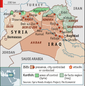 ISIS Controlled Areas Map