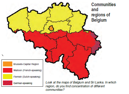 CBSE Notes Class 10 Political Science Chapter 1 Belgium Map