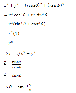Finding r and θ using x and y