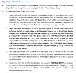 NEET Eligibility criteria - 3