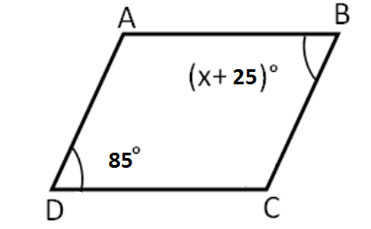 Parallelogram angles Example 1