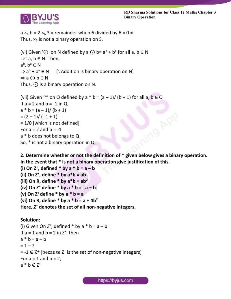 rd sharma class 12 maths chp 3 ex 1 2