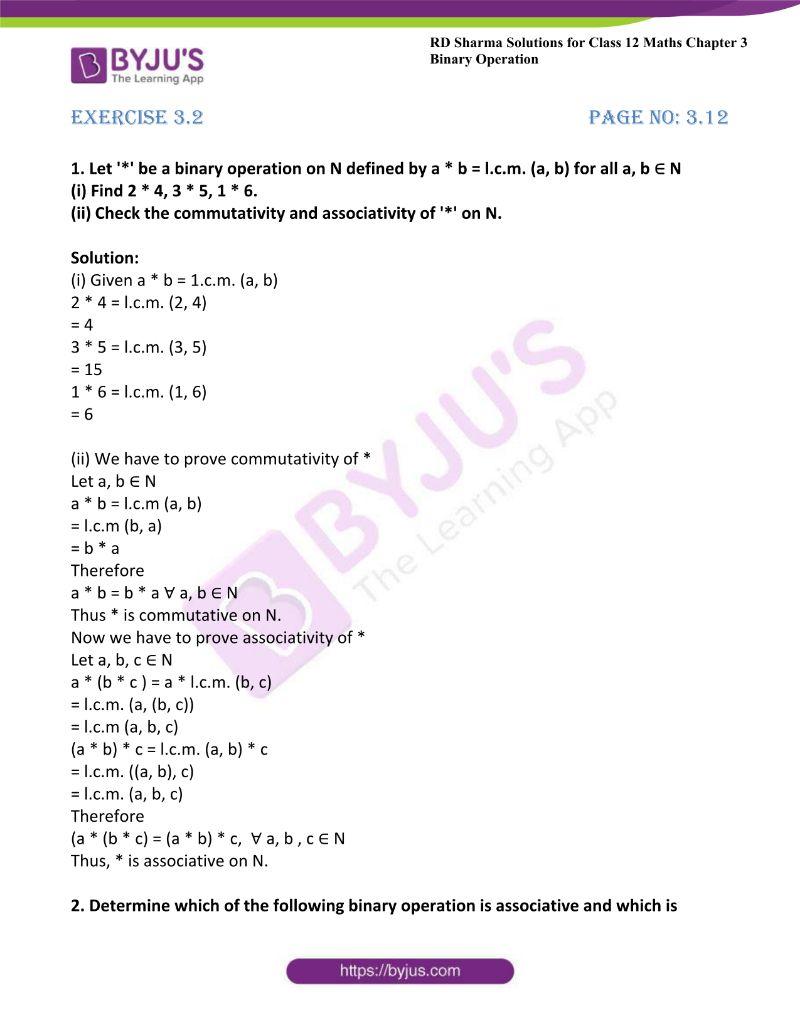 rd sharma class 12 maths chp 3 ex 2