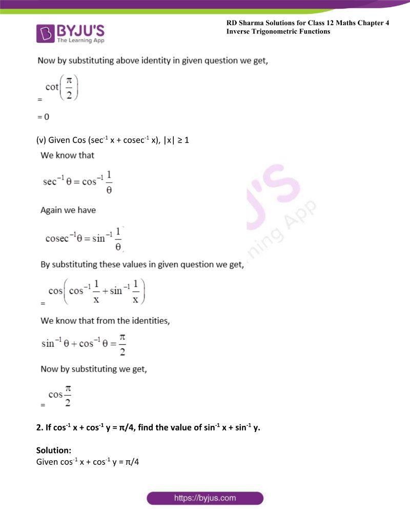 rd sharma class 12 maths chp 4 ex 10 2