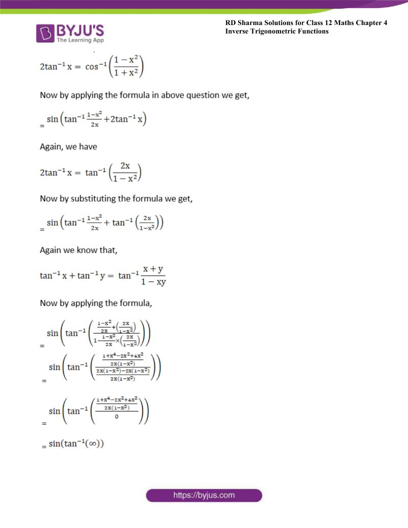 rd sharma class 12 maths chp 4 ex 14 20