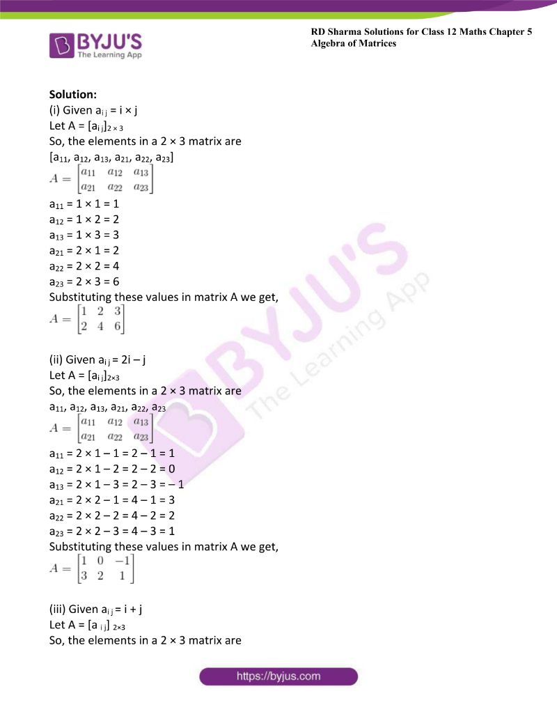 rd sharma class 12 maths chp 5 ex 1 2