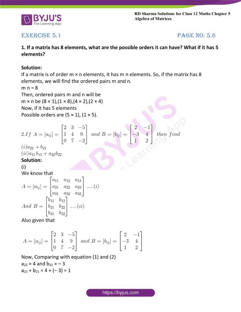 rd sharma class 12 maths chp 5 ex 1