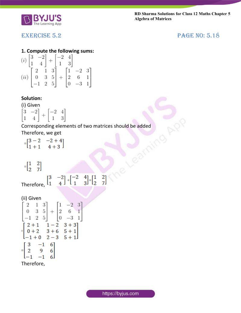 rd sharma class 12 maths chp 5 ex 2