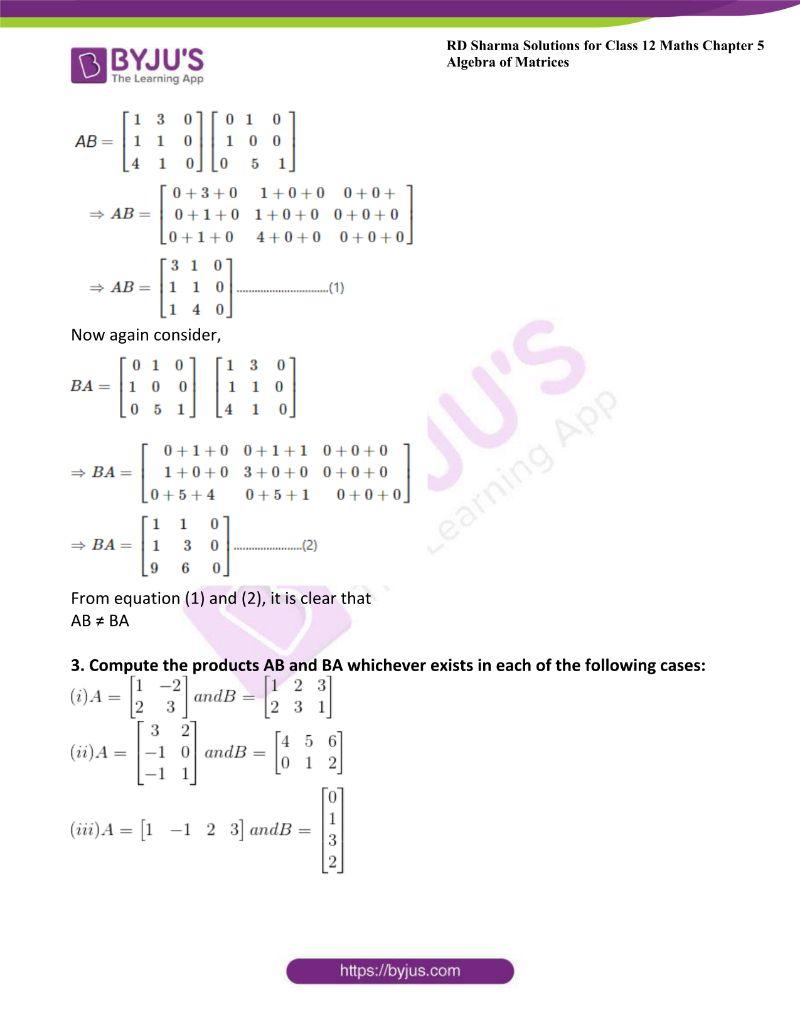 rd sharma class 12 maths chp 5 ex 3 3