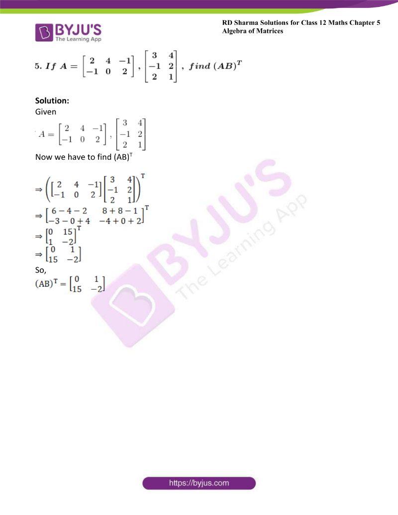 rd sharma class 12 maths chp 5 ex 4 5