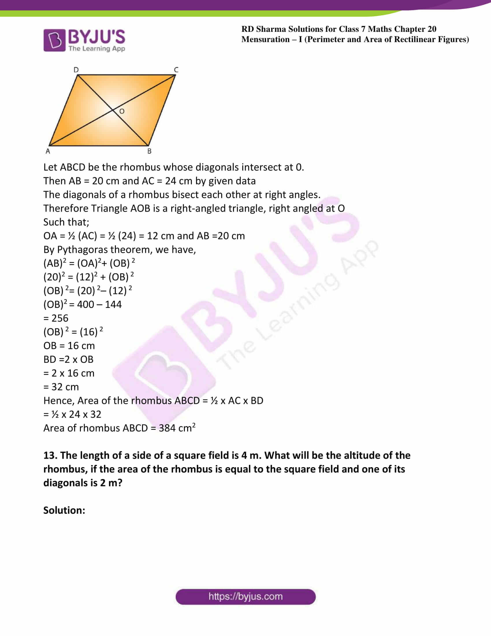 rd sharma class 7 maths solution ch 20 ex 3
