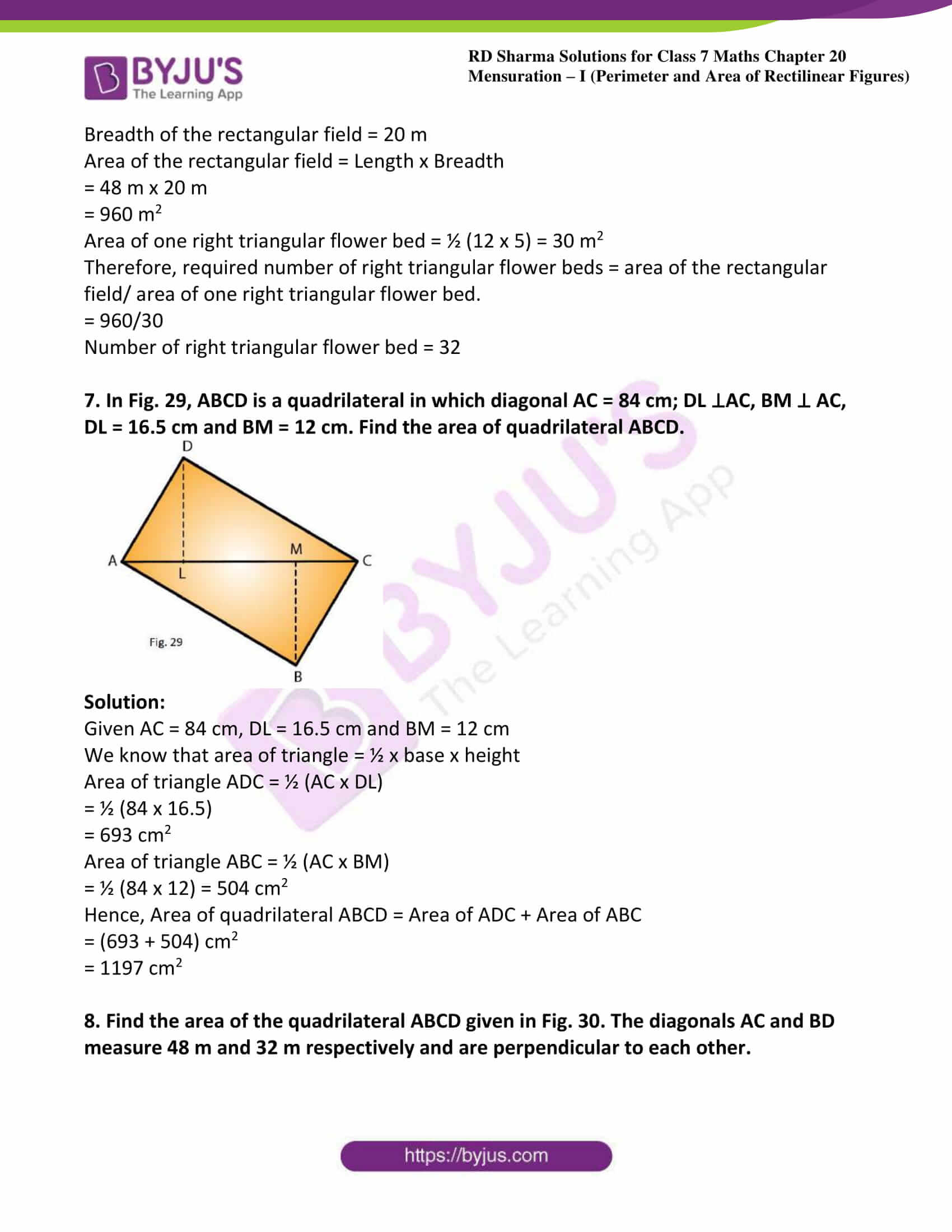 rd sharma class 7 maths solution ch 20 ex 4
