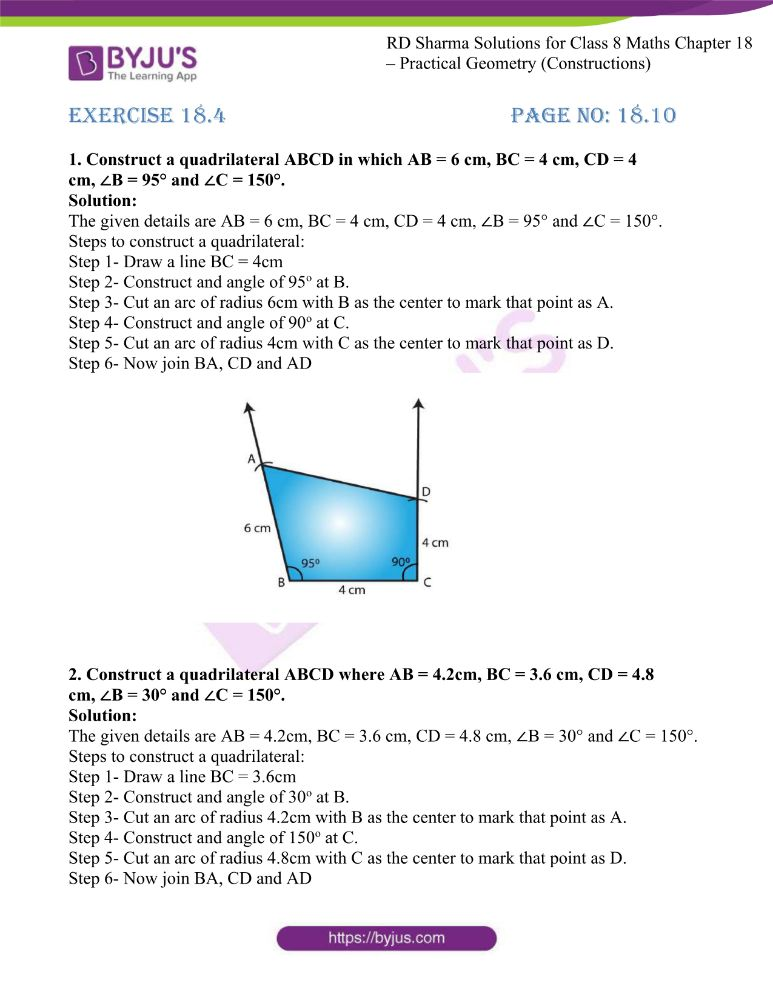 rd sharma class 8 maths chapter 18 ex 4