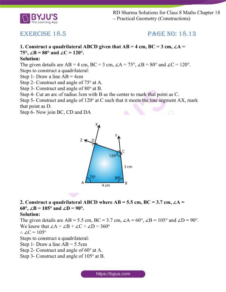 rd sharma class 8 maths chapter 18 ex 5