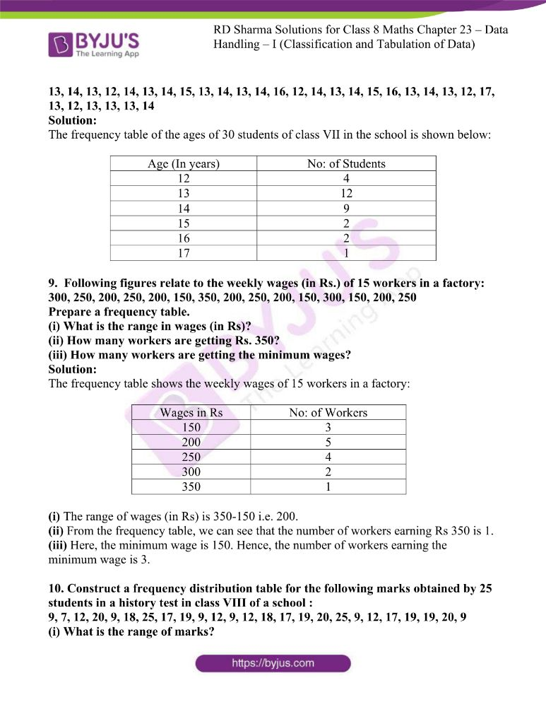 rd sharma class 8 maths chapter 23 ex 1