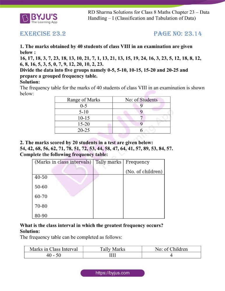 rd sharma class 8 maths chapter 23 ex 2