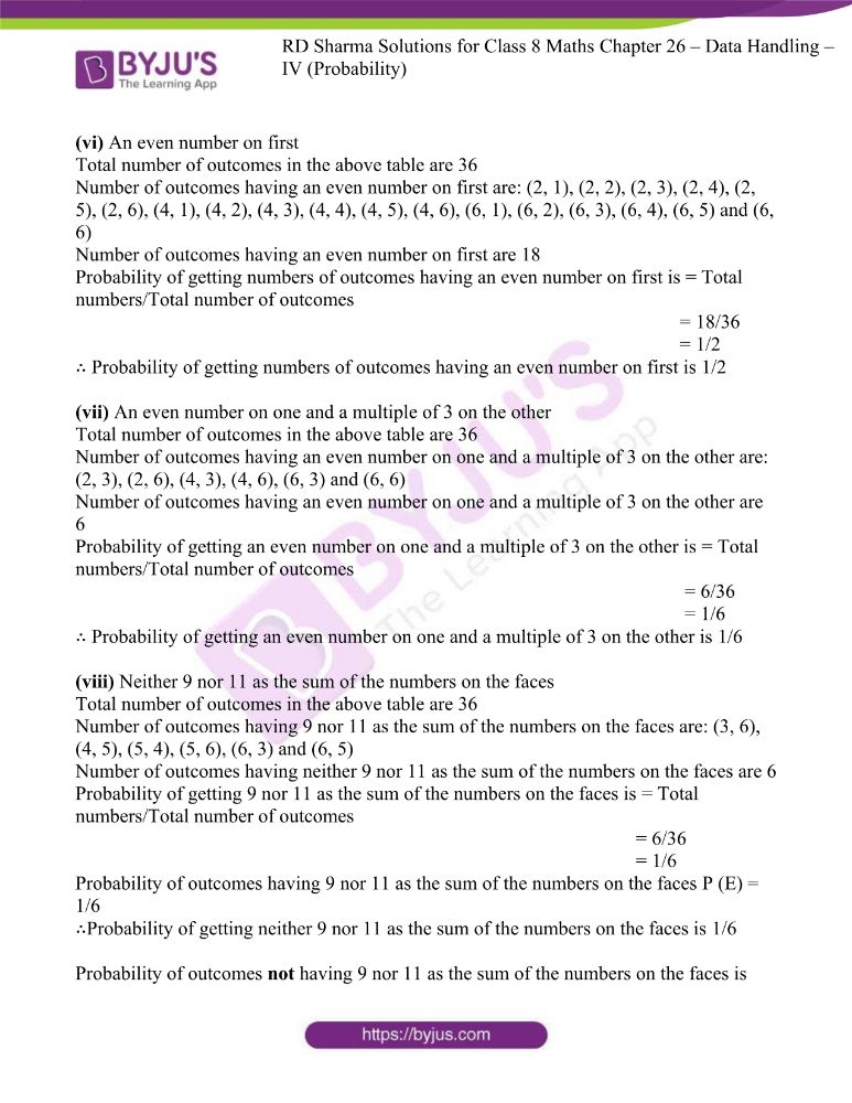 rd sharma class 8 maths chapter 26