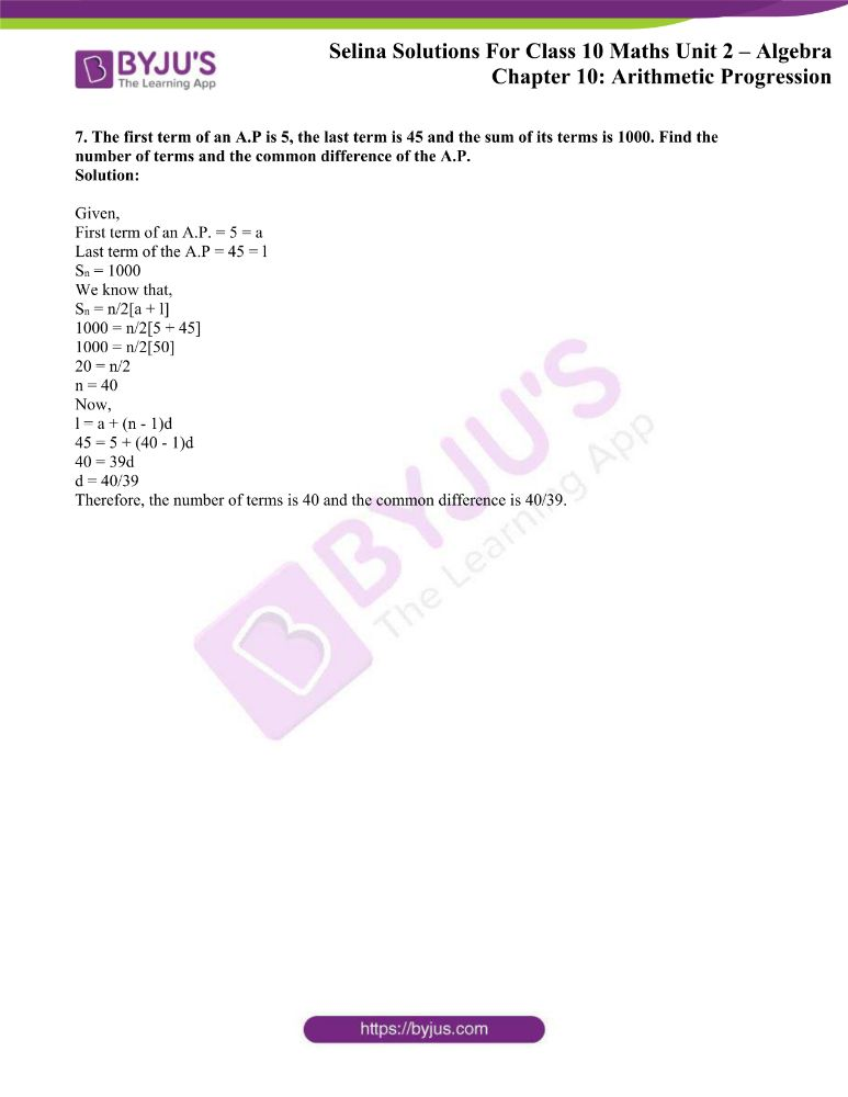 selina solutions concise maths class 10 chapter 10c