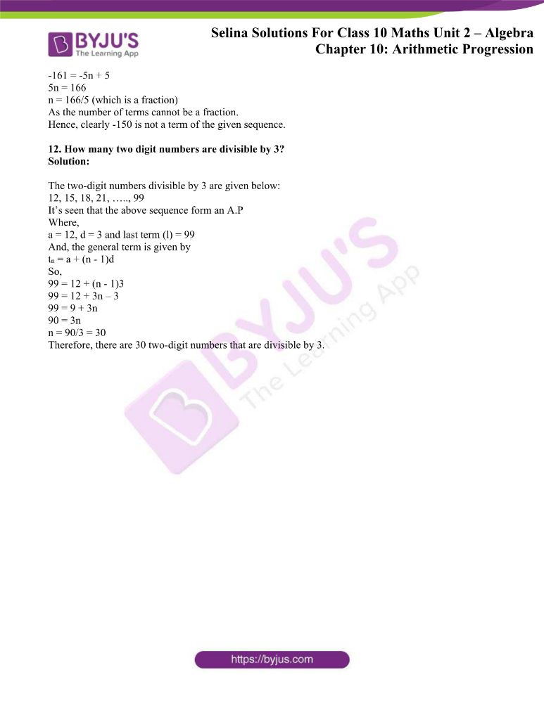 selina solutions concise maths class 10 chapter 10f