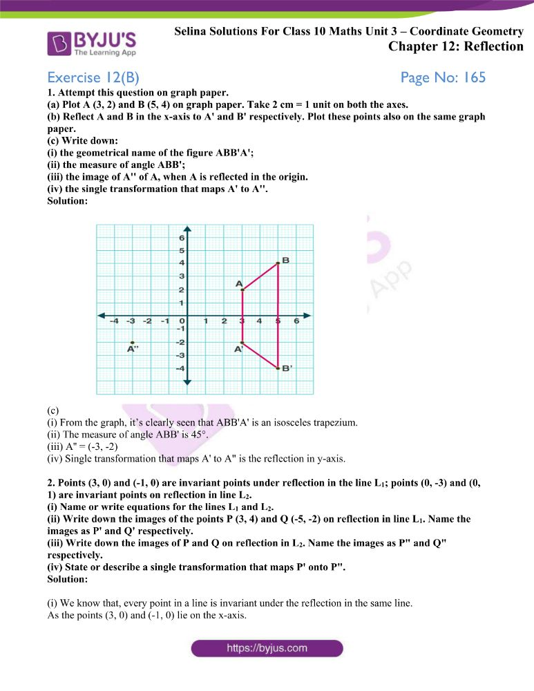 selina solutions concise maths class 10 chapter 12b