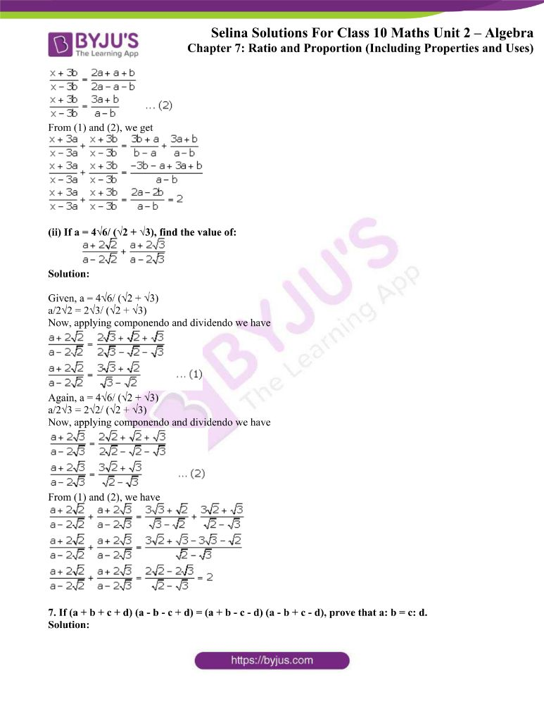 selina solutions concise maths class 10 chapter 7c