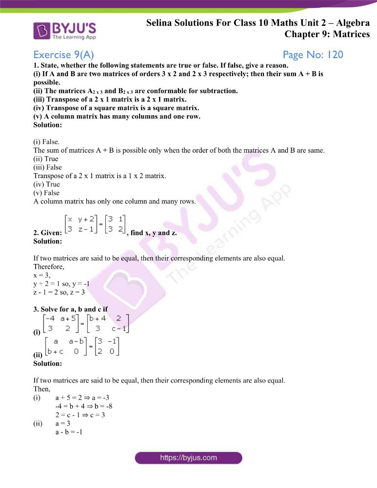 selina solutions concise maths class 10 chapter 9a