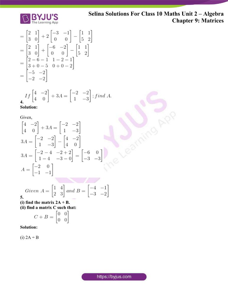 selina solutions concise maths class 10 chapter 9b