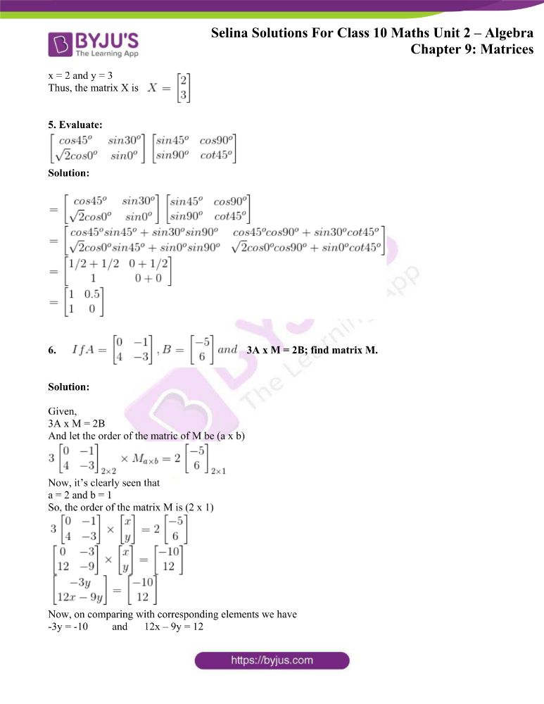 selina solutions concise maths class 10 chapter 9d