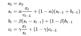 Triple exponential formula