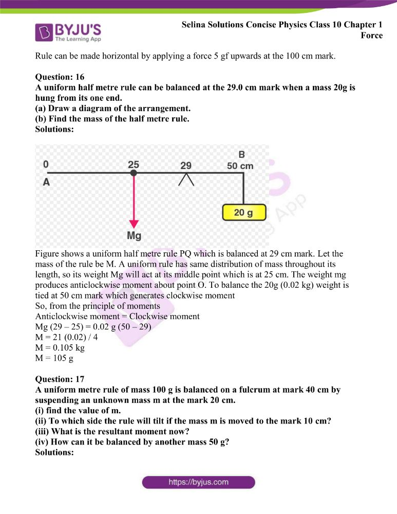 Selina Solutions Concise Physics Class 10 Chapter 1 Force 18