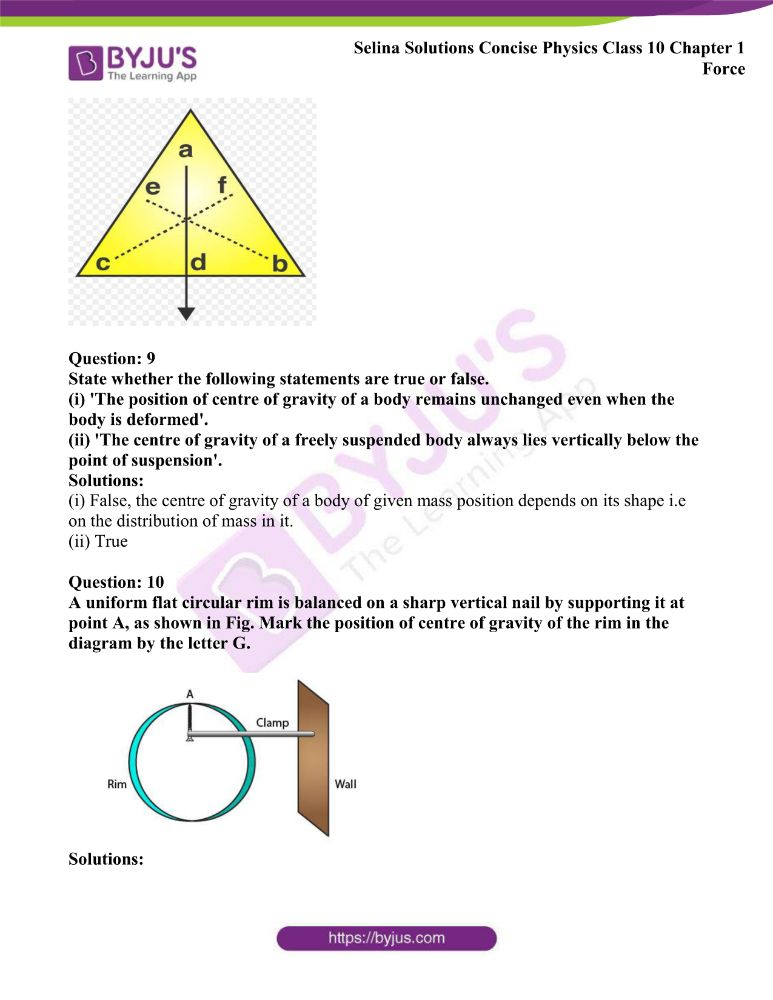 Selina Solutions Concise Physics Class 10 Chapter 1 Force 23