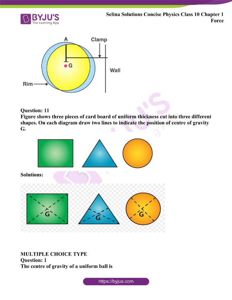 Selina Solutions Concise Physics Class 10 Chapter 1 Force 24