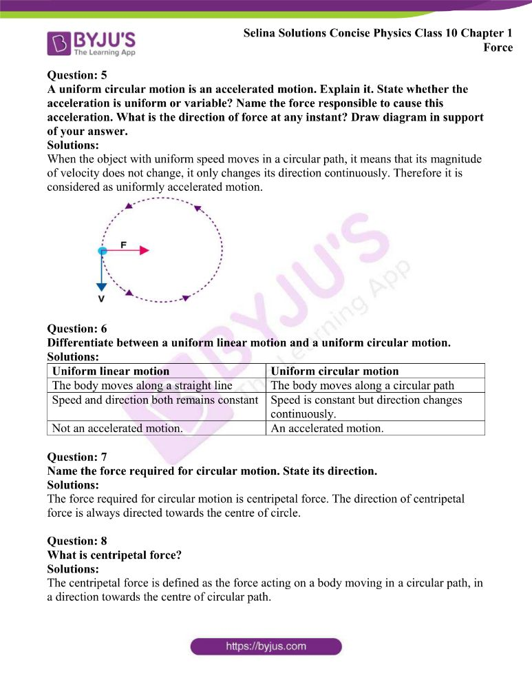 Selina Solutions Concise Physics Class 10 Chapter 1 Force 27