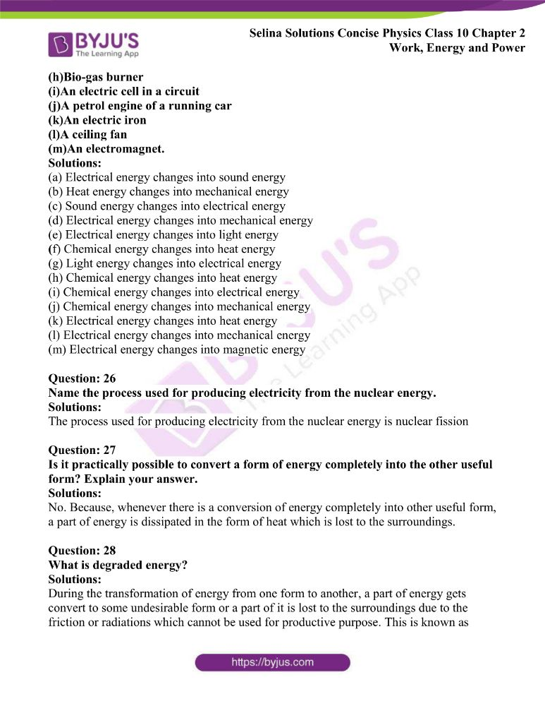 Selina Solutions Concise Physics Class 10 Chapter 2 Work Energy and Power 23