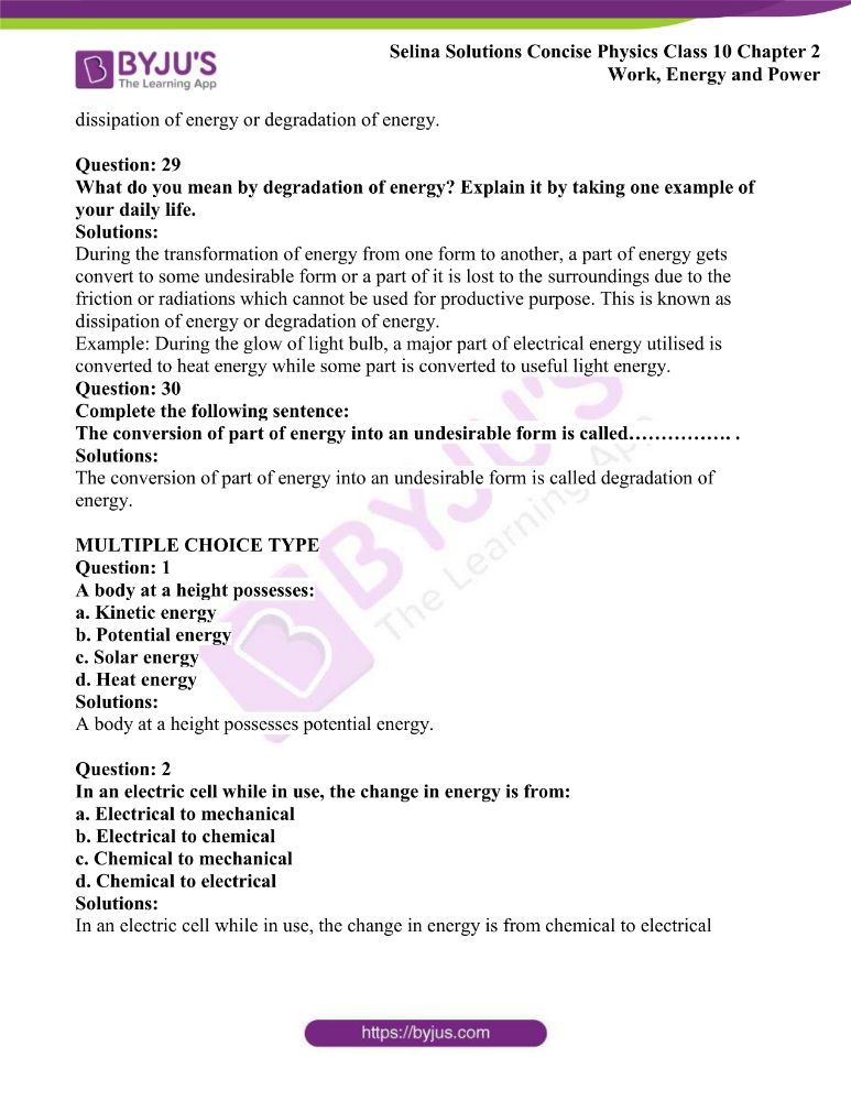 Selina Solutions Concise Physics Class 10 Chapter 2 Work Energy and Power 24