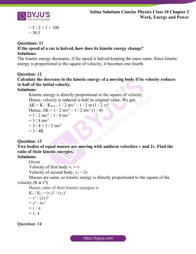 Selina Solutions Concise Physics Class 10 Chapter 2 Work Energy and Power 29