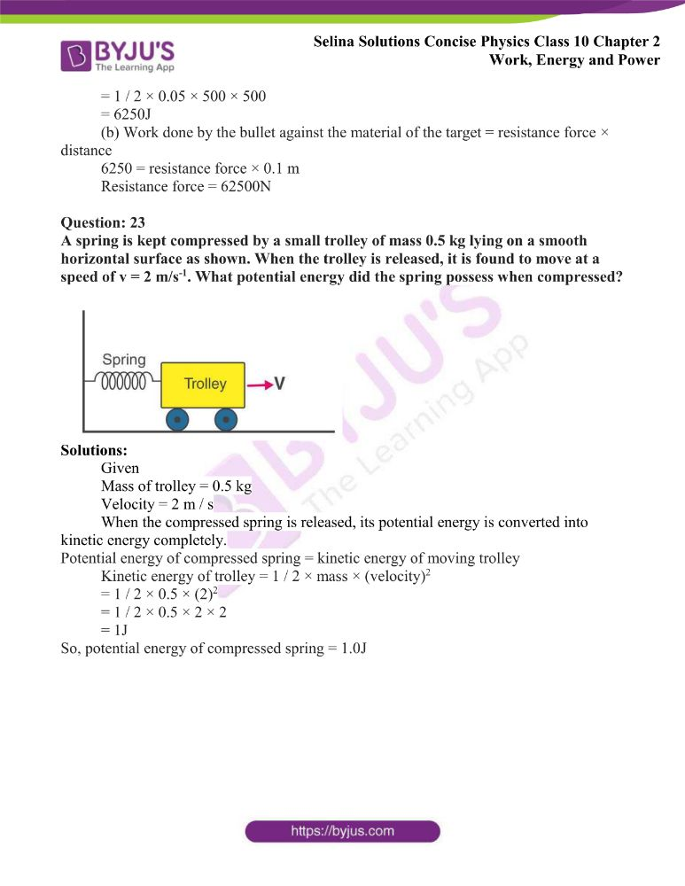 Selina Solutions Concise Physics Class 10 Chapter 2 Work Energy and Power 34