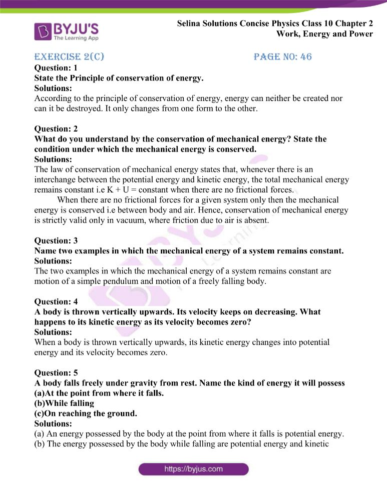 Selina Solutions Concise Physics Class 10 Chapter 2 Work Energy and Power 35