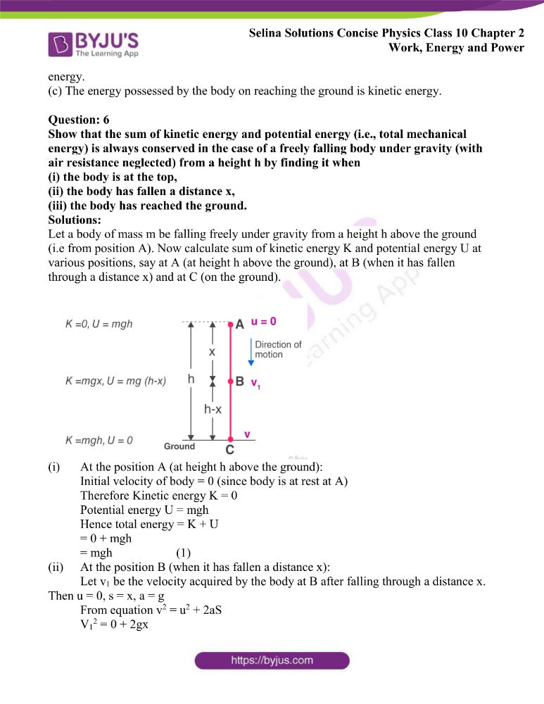 Selina Solutions Concise Physics Class 10 Chapter 2 Work Energy and Power 36