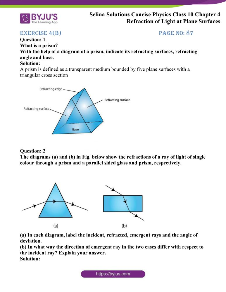 Selina Solutions Concise Physics Class 10 Chapter 4 Refraction of Light at Plane Surfaces 15