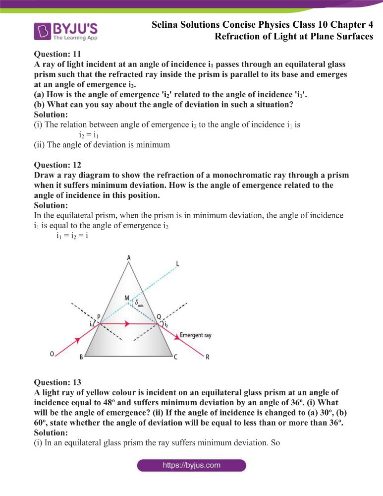 Selina Solutions Concise Physics Class 10 Chapter 4 Refraction of Light at Plane Surfaces 19
