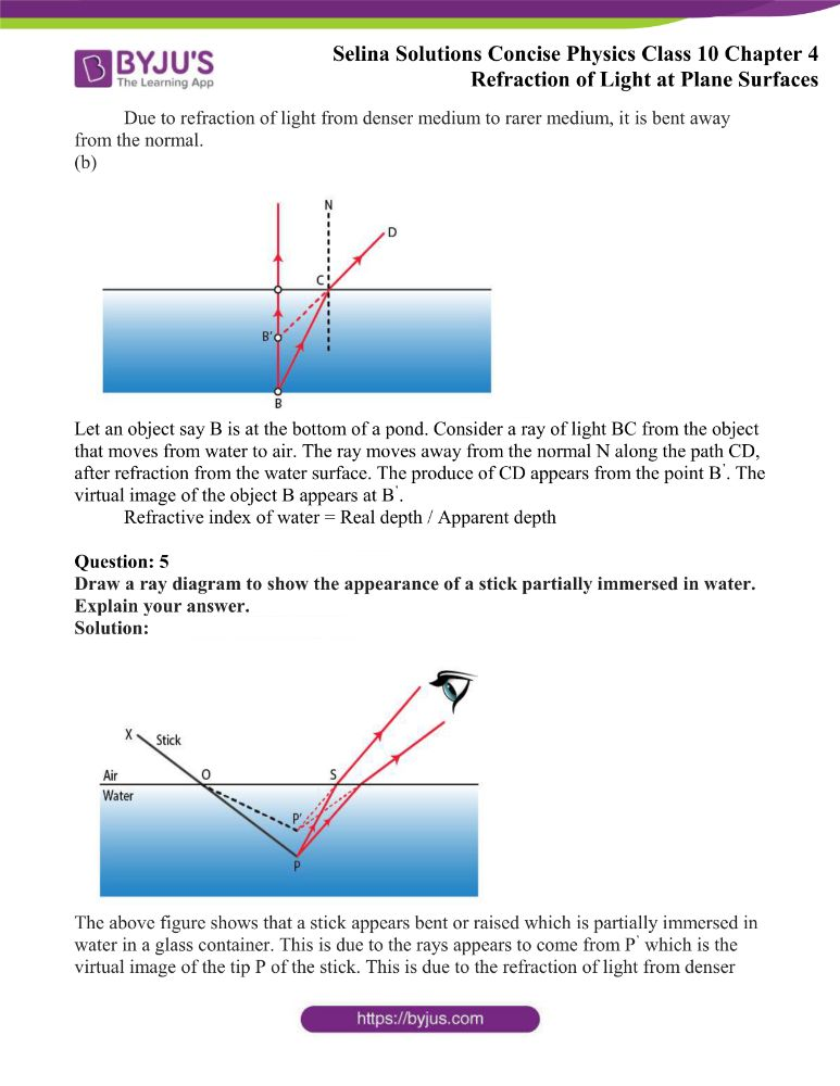 Selina Solutions Concise Physics Class 10 Chapter 4 Refraction of Light at Plane Surfaces 26