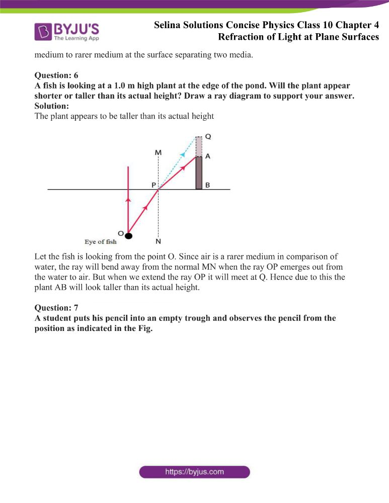 Selina Solutions Concise Physics Class 10 Chapter 4 Refraction of Light at Plane Surfaces 27