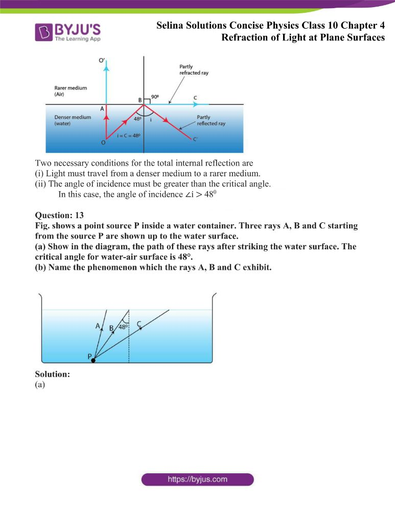 Selina Solutions Concise Physics Class 10 Chapter 4 Refraction of Light at Plane Surfaces 35