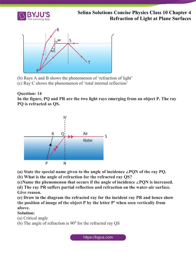 Selina Solutions Concise Physics Class 10 Chapter 4 Refraction of Light at Plane Surfaces 36