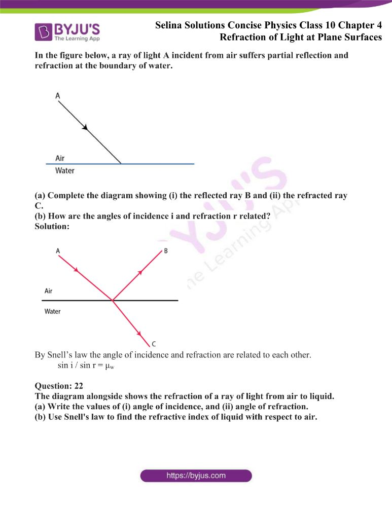 Selina Solutions Concise Physics Class 10 Chapter 4 Refraction of Light at Plane Surfaces 6