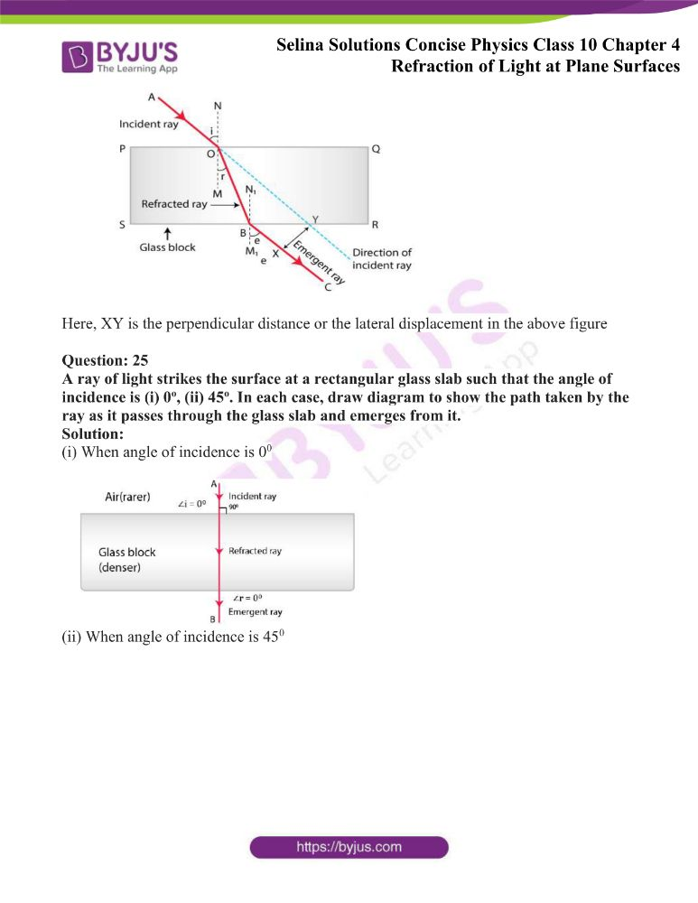 Selina Solutions Concise Physics Class 10 Chapter 4 Refraction of Light at Plane Surfaces 8