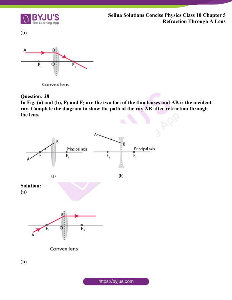 Selina Solutions Concise Physics Class 10 Chapter 5 Refraction Through A Lens 13