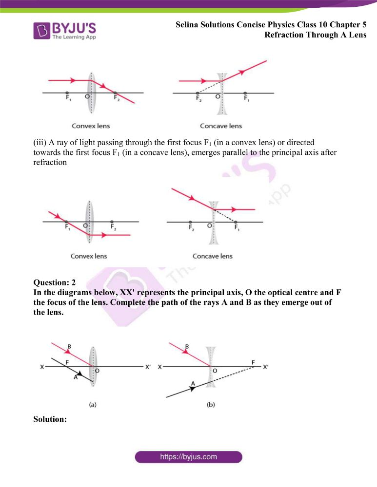 Selina Solutions Concise Physics Class 10 Chapter 5 Refraction Through A Lens 17
