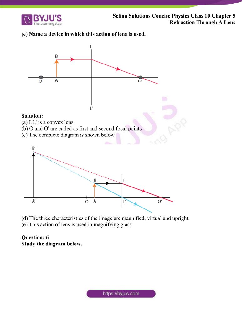Selina Solutions Concise Physics Class 10 Chapter 5 Refraction Through A Lens 19